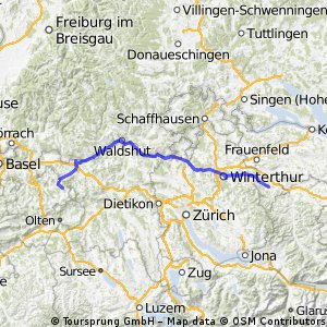 Eschlikon - Rothenfluh via Winterthur
