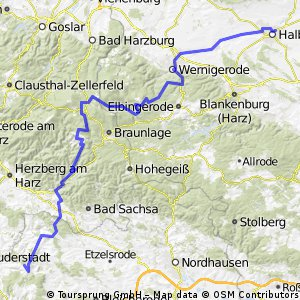 Harz-Eichsfeld-Rennsteig 1. Tag