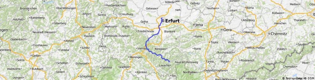 Team WEISSER RING on Tour 2013_4.Etappe_Erfurt - Neuhaus am Rennweg
