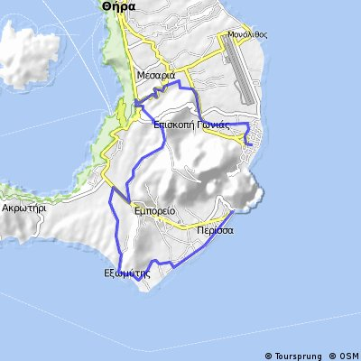 SANTORINI (KAMARI-MONOLITHOS-MESARIA-PYRGOS-EMPORIO-VLIHADA-PERISSA)