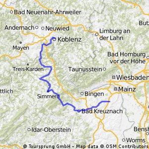 von Rheinhessen über den Hunsrück an die Mosel
