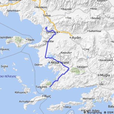 Bodrum Karte.Bodrum Mugla Marmaris 220km Bikemap Deine Radrouten