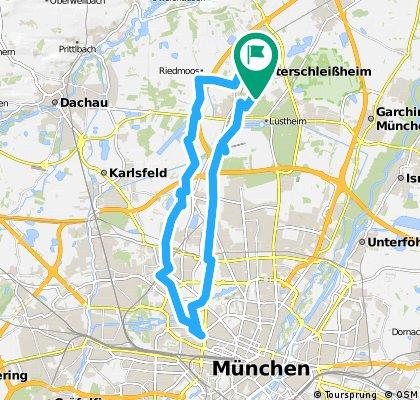 Von Unterschleißheim zum Münchner Rotkreuzplatz und zurück