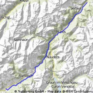 Inn-Radweg: Scuol - Ried