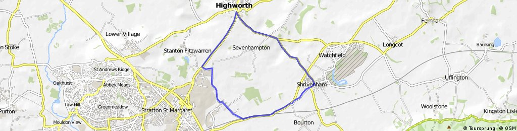 Shrivenham - Highworth - South Marston - Shrivenham