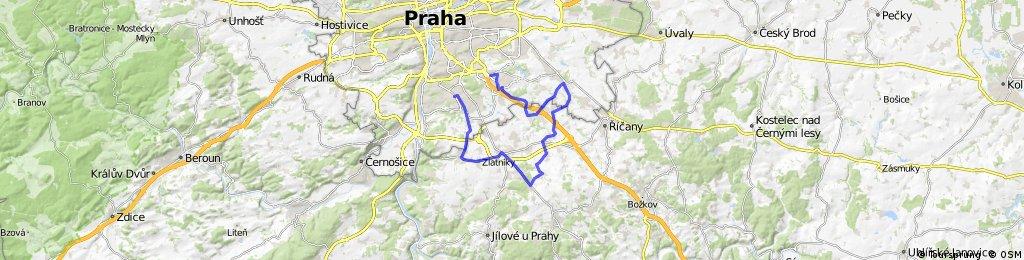 Novodvorská - Jesenice - Herink - Dobřejoivice - Uhřiněves - Pruhonice - Háje