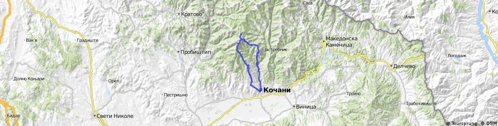 Kocani - Ponikva - Ezero Gratce - Kocani