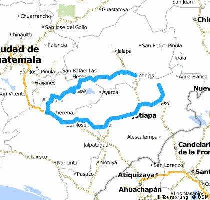 Vuelta a Guatemala Fantasy: Etapa 4 ** Santa Catarina Mita - Monjas 178,21 kms