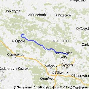 Miasteczko Śląskie - Jezioro Turawskie