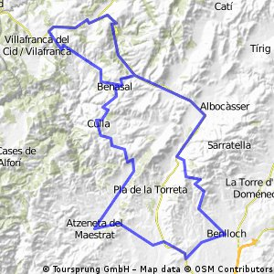 Atzeneta-Culla-Ares-Vilafranca-Bandereta