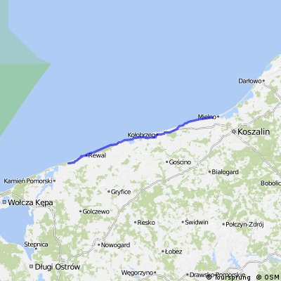 """VI dzień wyprawy """"Morze + rower"""" Chłopy - Łukęcin thru"""