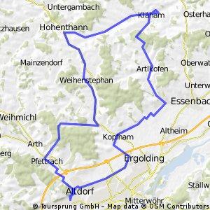 Kläham, Mirskofen, Altdorf, Hohenthann