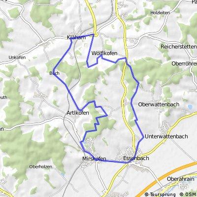 Kläham, Unsbach, Essenbach, Mirskofen