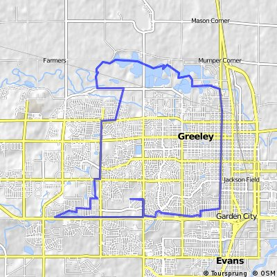 Cycling routes and bike maps in and around Greeley Bikemap Your