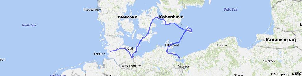 Swinoujscie - Rugia- Bornholm - Malmo - Kopenhaga - Lubeka - Heide