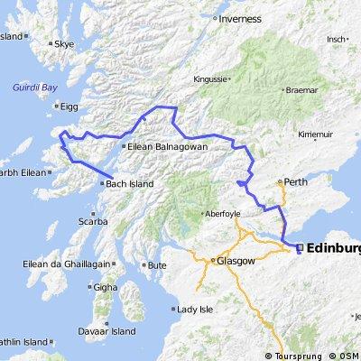Cycling in Schotland (Edinbrugh - Oban)