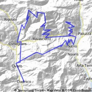 Monte Crostis; Forcella Tencje; Monte Zoncolan