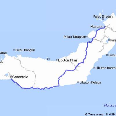 Gorontalo-Manado 380Km