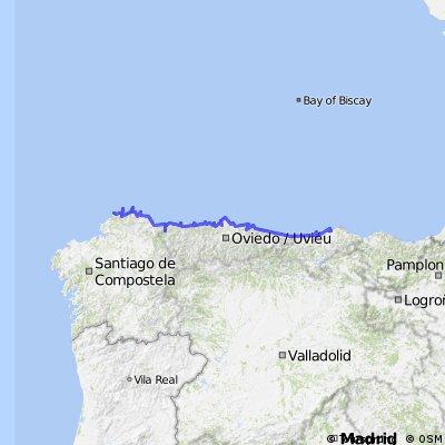 Ruta faros desde Santander hasta Galicia
