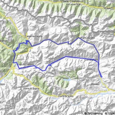Cima Sappada;Passo de Mauria; Forcella Lavardet