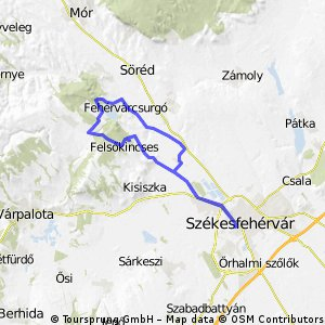 Cycling routes and bike maps in and around Szkesfehrvr Bikemap