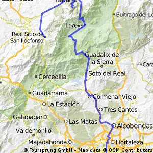 Madrid - La Granja por Morcuera y Navafria