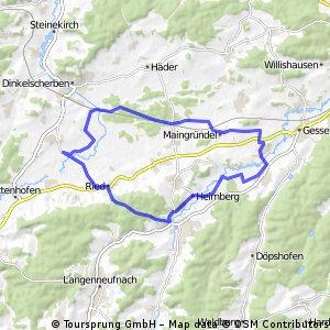 Wollishausen - Fischach - Reischenau - Maingründel - Wollishausen