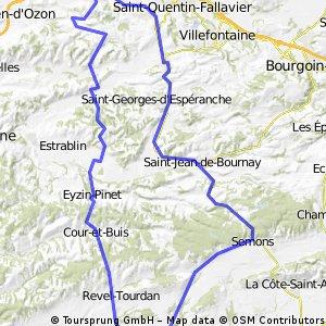 Toussieu-Beaurepaire 105 Km