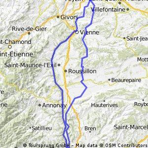 Tournon/rhône - 175 km