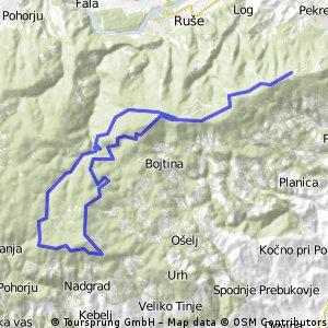 Bolfenk - 3Kralji - Osankarica - Šumik - Areh
