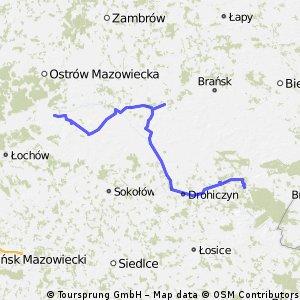 Prostyń - Sycze, weekendowa trasa ~130km