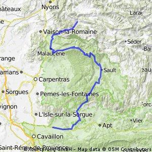 Etape 8 par le Mont Ventoux