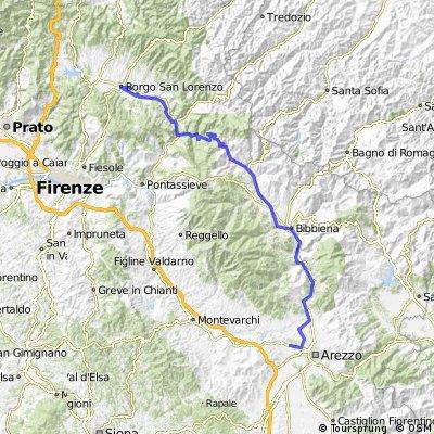 Umbria 2013 3. giorno Borgo S. Lorenzo - Arezzo (Pratantico)