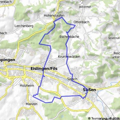 Eilingen / Fils - Wannenhof- Schlater Waldrand