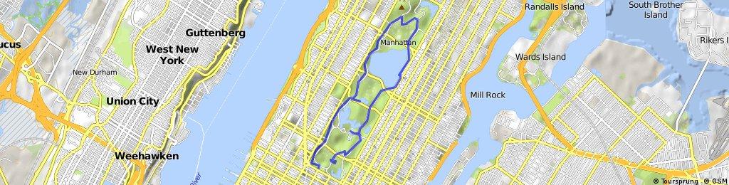 Central Park Bike Map on