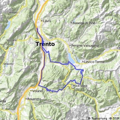 Trento-Besenello-Lavarone-Jägersteig-Trento