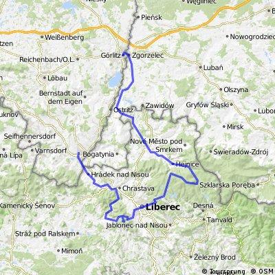 2013-06-23 Zittau-Jeschken-Isergebirge-Frydlant-Zgorzelec_142km_2000Hm