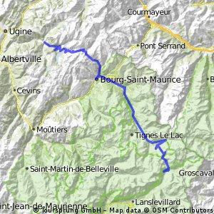 3.Tag Route Grandes Alpes Beaufort nach Bonneval sur Arc