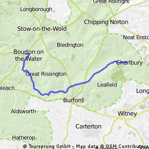 Charlbury to Bourton on the water