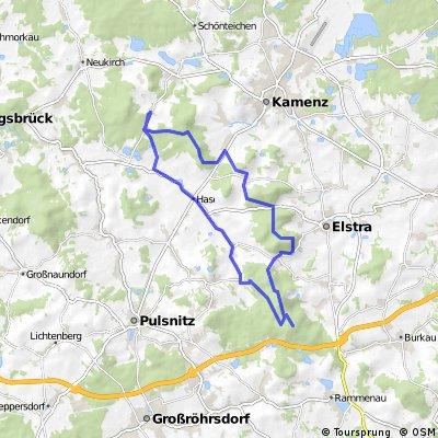Lausitzrunde von Schwosdorf zum Hochstein und zurück