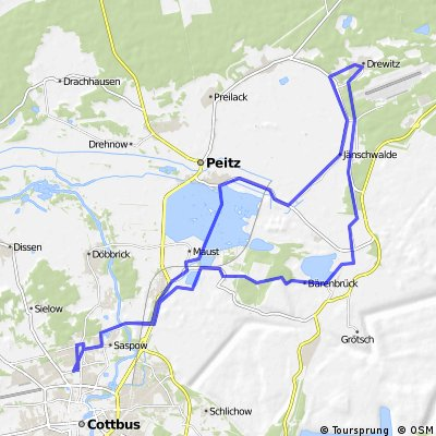 Cycling routes and bike maps in and around Cottbus Bikemap Your