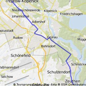 Baumschulenweg to DESY Zeuthen