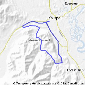 Cycling routes and bike maps in and around Kalispell | Bikemap ... on flathead county map, wolf point map, hobbs map, waycross map, bigfork mt map, akron canton map, london map, beckley map, fairmont map, glacier national park map, bozeman map, dickinson map, polson mt map, montana map, deer river map, liberal map, superior map, missoula mt airport map, cedartown map, choteau map,