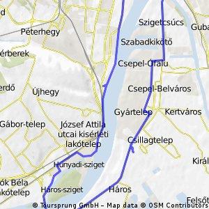 Csepel - M0 - Rákóczi híd kör