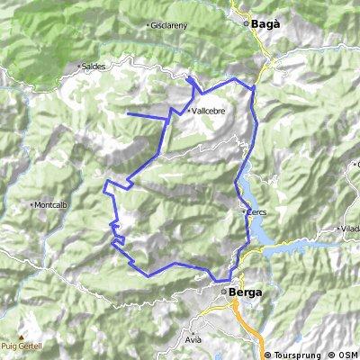 Ruta Berguedà (Coll de Pradell, Fumanyà i Rasos de Peguera) desde Rodonella
