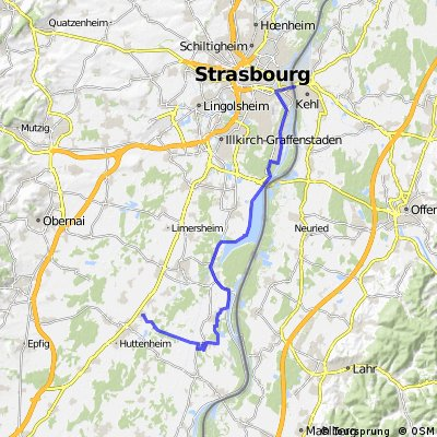Straßburg nach Sand (Frankreich)