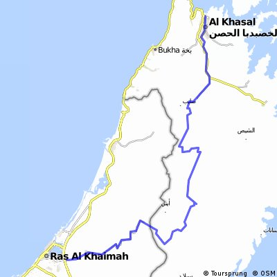 Cycling routes and bike maps in and around Ras alKhaimah Bikemap