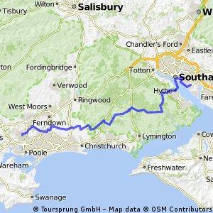 Broadstone to Netley (Southampton) via Hythe Ferry