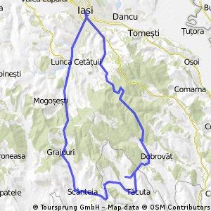 Iasi - Barnova - Dobrovot -  Tacuta - Scanteia - Grajduri - Iasi