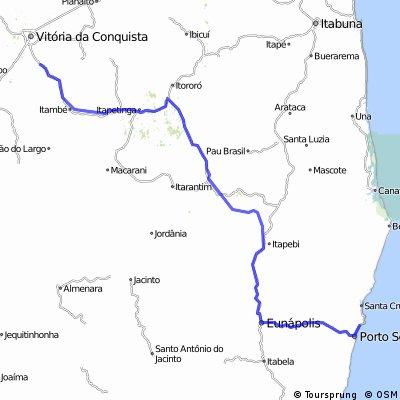 1° Cicloviagem (Vit. da Conquista-BA - Porto Seguro-BA)